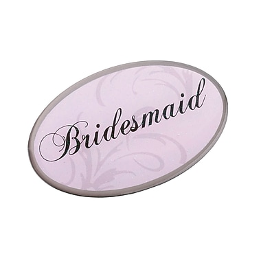 Lillian Rose™ Bridesmaid Oval Pin, Pink