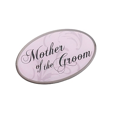 Lillian Rose™ Mother of the Groom Oval Pin, Pink