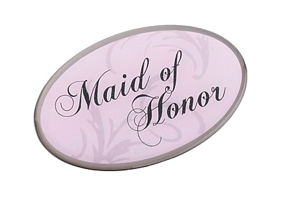 Lillian Rose™ Maid Of Honor Oval Pin, Pink