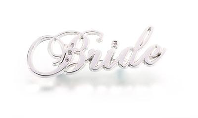 Lillian Rose™ Bride Rhinestone Pin, Silver