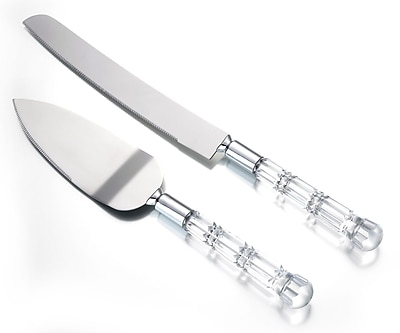 Lillian Rose™ Clear Acrylic Handled Knife and Server Set