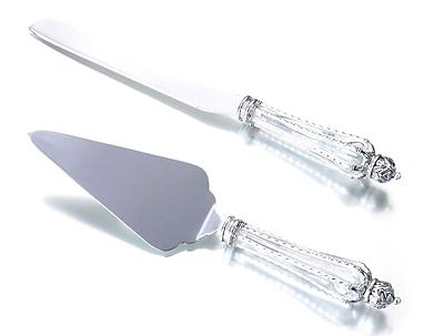 Lillian Rose™ Crown Knife & Server Set, Clear