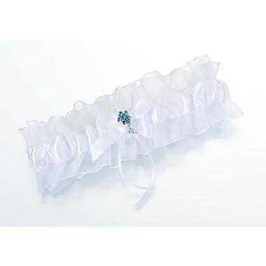 Lillian Rose™ Something Blue Garter With Flower, White