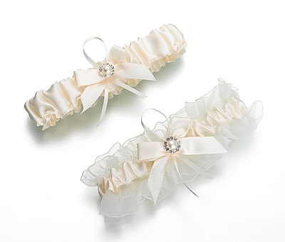 Lillian Rose™ Set Of 2 Pearl Garter, Ivory
