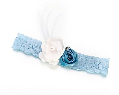 Lillian Rose™ Vintage Lace Garter, Blue