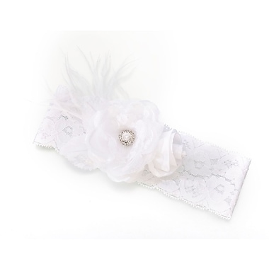 Lillian Rose™ Vintage Lace Wide Garter, White