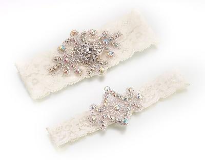 Lillian Rose™ Set Of 2 Jeweled Garter, Ivory