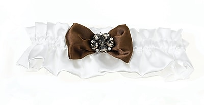 Lillian Rose™ Jeweled Cream Garter, Brown