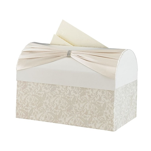 lillian rose wedding reception gift card box ivory staples