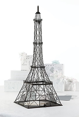 Lillian Rose™ Eiffel Tower Card Box, Rustic Black