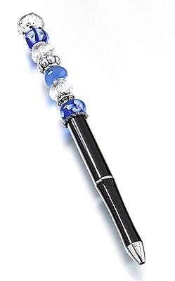 Lillian Rose™ Beaded Pen, Blue/Black