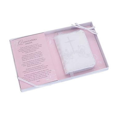 Lillian Rose™ Quince Anos Spanish Bible With Embroidered Cover