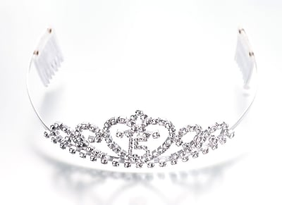 Lillian Rose™ Quince Anos Tiara, Clear, Small