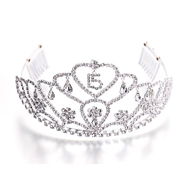 Lillian Rose™ Quince Anos Tiara, Clear, Large