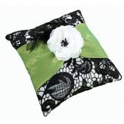 """Lillian Rose™ 7"""" Ring Pillow, Green/Black"""