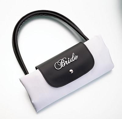 Lillian Rose™ Bride Foldable Tote, Black/White