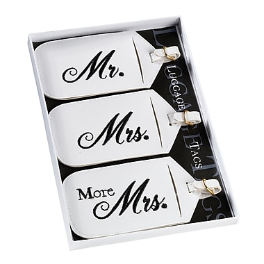 Lillian Rose™ Mr. and Mrs. Luggage Tag, 3/Set