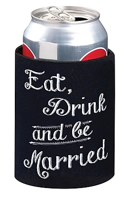 Lillian Rose Eat, Drink and Be Married Cup Cozy, Black 1173071