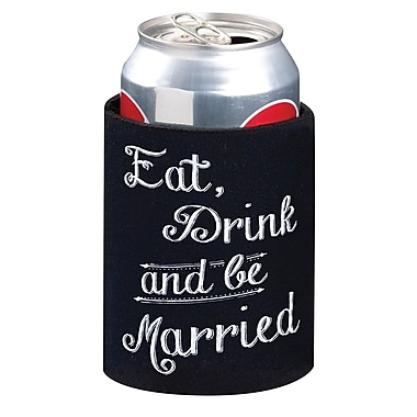 Lillian Rose™ Eat, Drink and Be Married Cup Cozy, Black