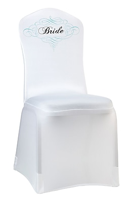 Lillian Rose™ Bride Chair Cover, White
