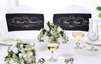 Lillian Rose™ Pair Of Chair Sashes, Maid of Honor/Best man