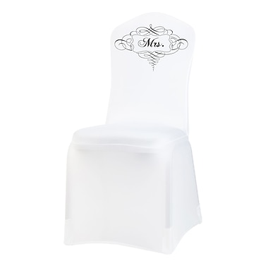 Lillian Rose™ Mrs. Chair Cover, White