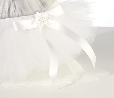 Lillian Rose™ Flower Dog Skirt, White