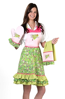 Lillian Rose Queen Of Everything Apron, Pink/Green 1173114