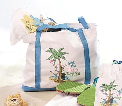 Lillian Rose™ Flip Flop Love Theme Nylon Beach Bag