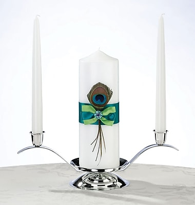 Lillian Rose Peacock Candle Set 1173059