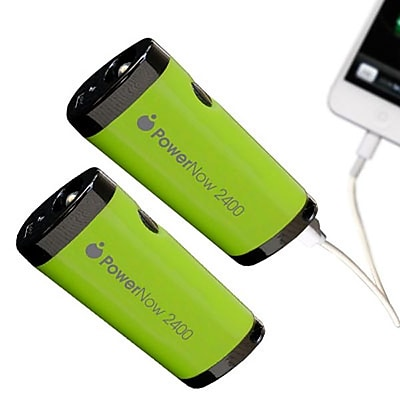 Datexx PowerNow Buddy Smartphone Battery With Flashlight, Green, 2/Pack