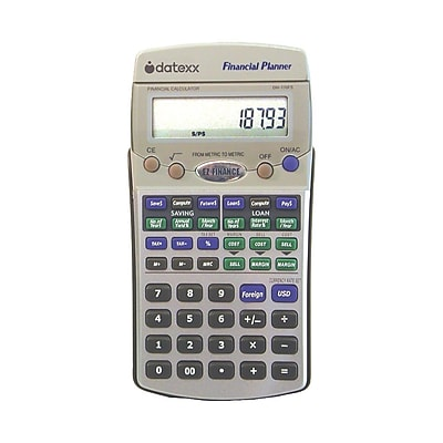 Datexx DhFs Ez Financial Calculator Silver  Staples