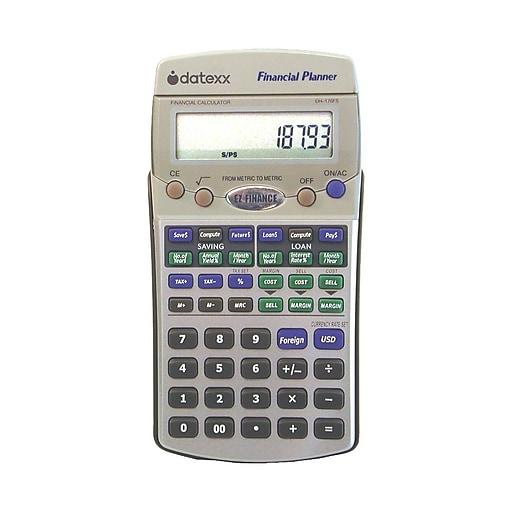 Datexx DH-170FS EZ Financial Calculator, Silver | Staples