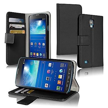 Insten® Stand Case With Card Slot For Samsung Galaxy S4 Active i9295, Black