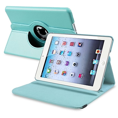 Insten 809506 Synthetic Leather Stand Case for Apple iPad Mini/iPad Mini with Retina Display Tablet, Light Blue