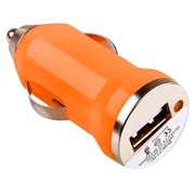 Insten® USB Mini Car Charger Adapter, Orange