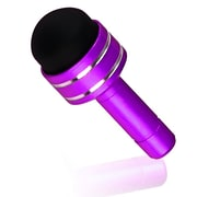 Insten® dothxxxxst28 3.5mm Headset Dust Cap With Mini Stylus For iPhone/iPod Touch, Purple