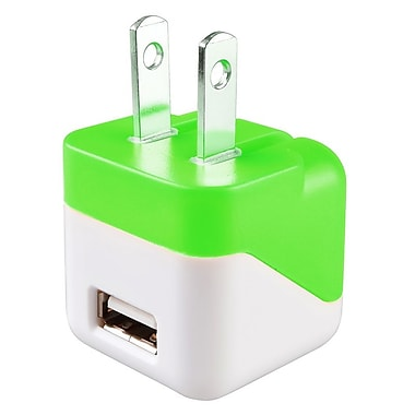 Insten USB Mini Travel Charger, Green (1496822)