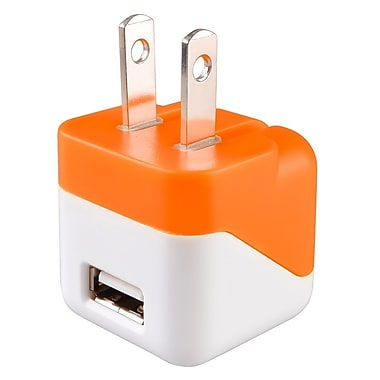 Insten USB Mini Travel Charger, Orange (1496827)