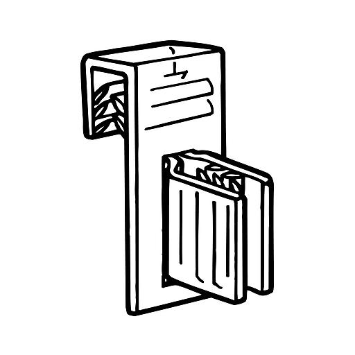 "FFR Merchandising® SuperGrip® 1.5"" x 0.75"" Flag Sign Holder, Clear"