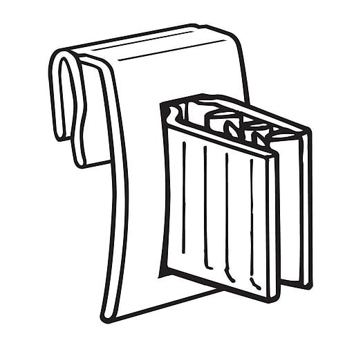 "FFR Merchandising® Economy Data Strip® 1"" x 0.75"" Hinged Flag Sign Holder, Clear"