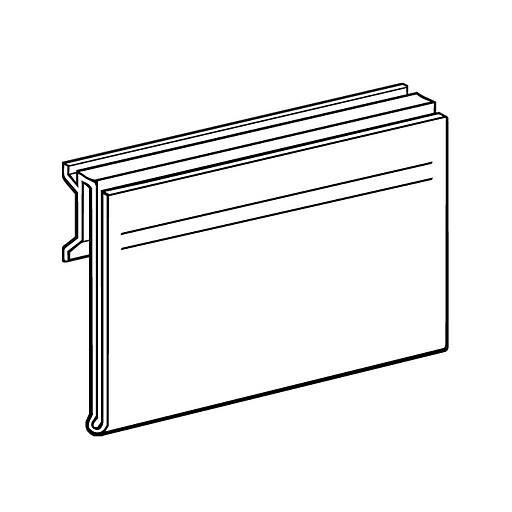 "FFR Merchandising Self Channel 5.5"" Flip-Up PVC Sign Holder, 15/Pack"
