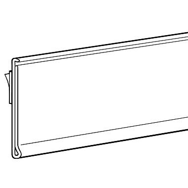 FFR Merchandising® Economy Self-Adhesive Data Strip® Biodegradable Label Holder, Clear