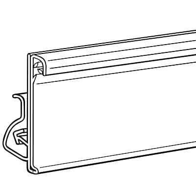 FFR Merchandising® Clip-On Data Strip® SuperGrip® Label Holder For Shelf Channel, Clear, 1 1/4