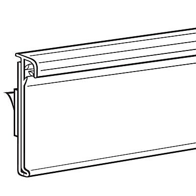 FFR Merchandising® Data Strip® SuperGrip® Self-Adhesive Label Holder, 1 3/8