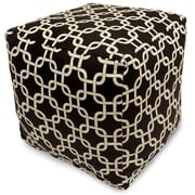 Majestic Home Goods Outdoor Cotton Duck/Twill Links Small Cube Ottomans