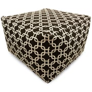 Majestic Home Goods Indoor Poly/Cotton Twill Links Large Ottomans