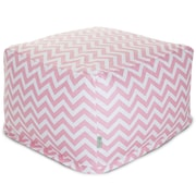 Majestic Home Goods Indoor Poly/Cotton Twill Chevron Large Ottomans