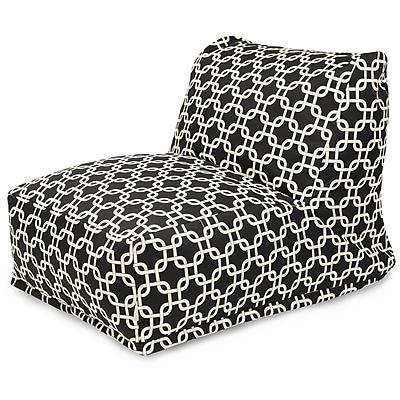 Majestic Home Goods Indoor Cotton Duck Bean Bag Chair, Black (85907210302)