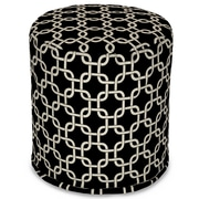 Majestic Home Goods Outdoor Polyester Links Small Pouf Ottomans